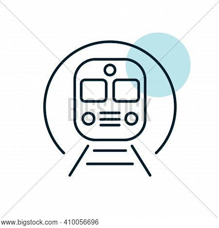 Subway Underground Metro Train Flat Vector Icon. Graph Symbol For Travel And Tourism Web Site And Ap