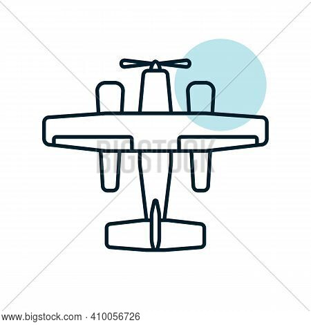 Small Amphibian Seaplane, Plane Flat Vector Icon. Graph Symbol For Travel And Tourism Web Site And A