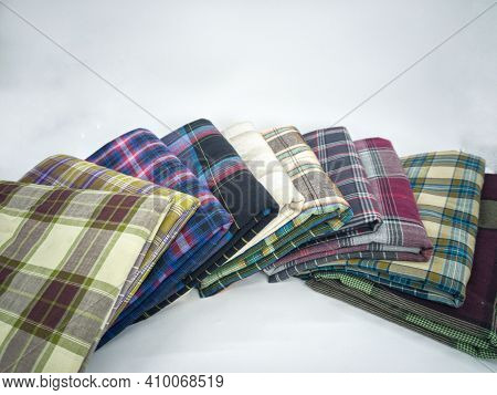 Sarongs Or Locally Known As Kain Pelikat, Worn By Most Asian Men. Selective Focus Points