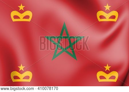 3d Naval Ensign Of Morocco. 3d Illustration.