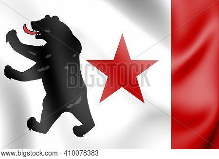 3d Pio Pico Bear Flag. 3d Illustration.
