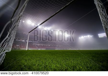Bucharest, Romania - November 27, 2020: The New Steaua Stadium Is Open For A Press Event On The Day