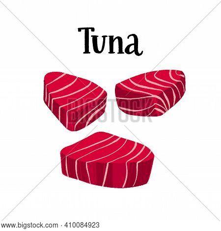 Healthy Nutrition Product. Fresh Tuna Raw Fillet.