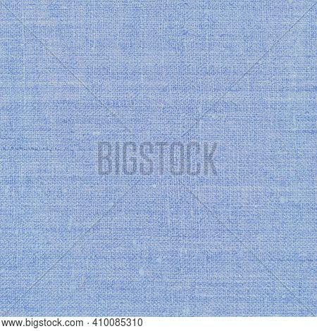 Natural Light Pastel Pale Blue Rustic Flax Fiber Linen Fabric Swatch Texture Horizontal Pattern, Bri