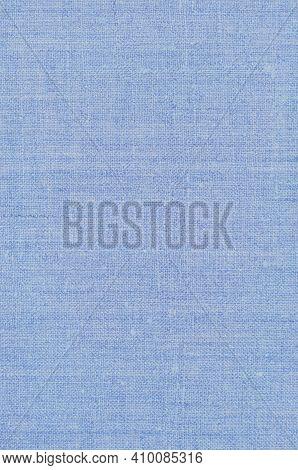 Natural Light Pastel Pale Blue Rustic Flax Fiber Linen Fabric Swatch Texture Pattern, Vertical Brigh