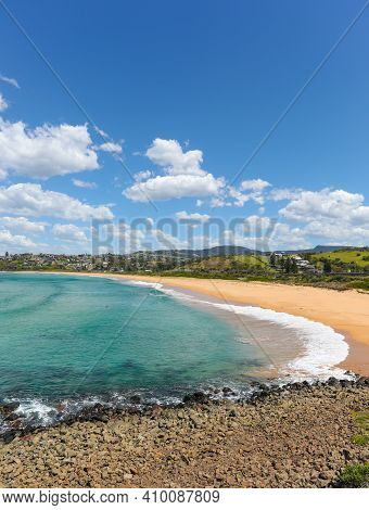 Bombo Beach Is Near Kiama On New South Wales Coast. It Is A Popular Destination South Of Sydney For