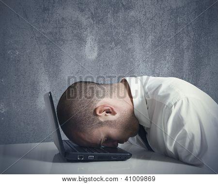 Empresário estressado