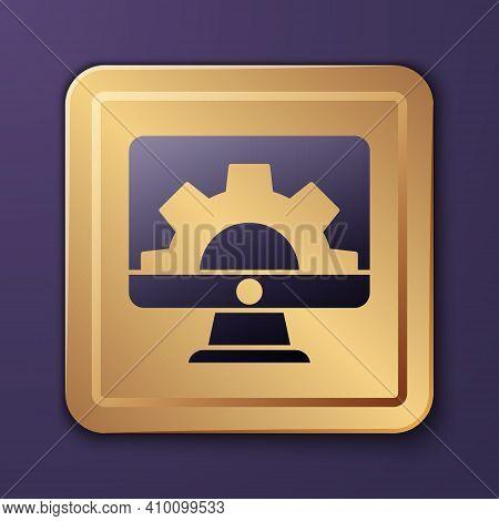 Purple Software, Web Development, Programming Concept Icon Isolated On Purple Background. Programmin