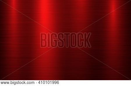 Red Metal Panorama Texture With Reflection - Illustration