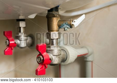 Ceramic Limescale On The Boiler Water Heater