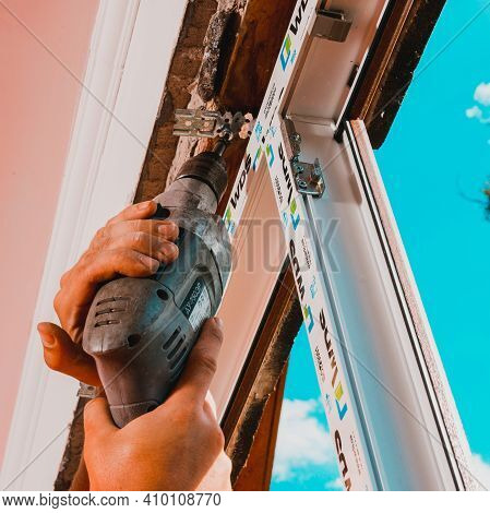 Dolyna, Ukraine July 31, 2020: Installation And Replacement Of A Plastic Window, Windows From Wds, P