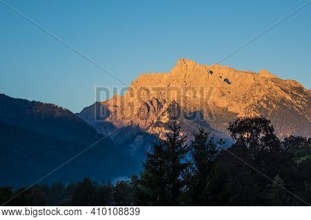 Landscape With Mountains In The Berchtesgaden Alps, Germany.