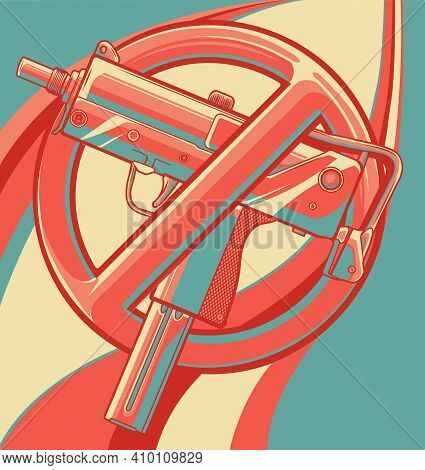 Vector Illustration No Guns Or Firearms Allowed
