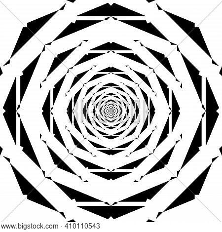 Abstract Rose Like Illusion Arabesque Intersections Black On Transparent Background Designer Cut