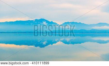 Sunset At Phayao Lake, A North Of Thailand.