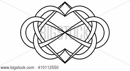 Knot Of Hearts And Infinity Sign, Vector Sign Symbol Infinite And Eternal Love