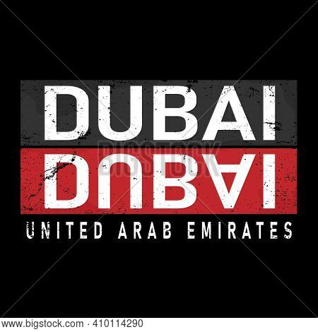 Geometric Dubai City Vector Design Logo Vector Sign T-shirt Design