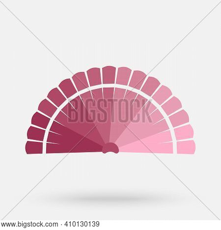 Folded Hand Fan Icon. Flat Illustration Of Folded Hand Fan Vector Icon For Web Design.