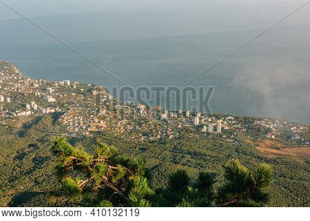 The Panoramic View From Mount Ai-petri To The Black Sea