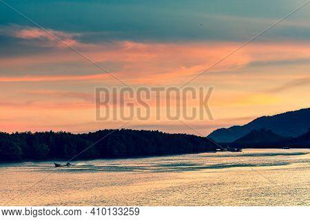 Colorful Sky Sunrise On Sea