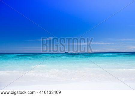 Beach Under Clear Sky At Tropicana