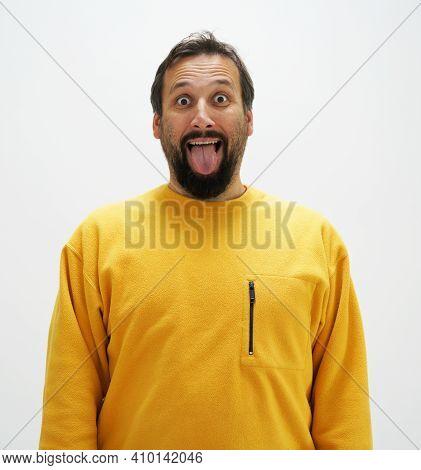 Portrait Of Man Wearing Yellow , High Photo