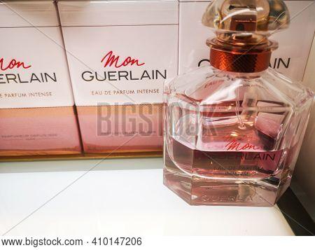 Fragrance For Women Mon Guerlain Eau De Parfum Belongs To The Oriental Woody Group In The Perfume Sh