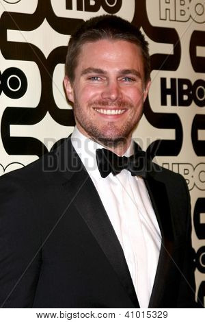 LOS ANGELES - JAN 13:  Stephen Amell arrives at the 2013 HBO Post Golden Globe Party at Beverly Hilton Hotel on January 13, 2013 in Beverly Hills, CA..