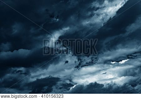 Cloudy Sky. Dramatic Cloudy Sky As Abstract Background.