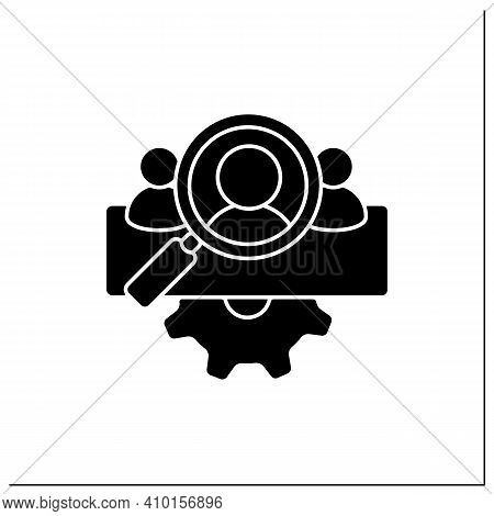 Management Team Identification Glyph Icon.searching For New Employees Or Partners. Enrollment Employ