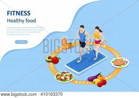 Isometric Fitness And Diet, Healthy Lifestyle. Healthy Eating, Personal Diet Or Nutrition Plan From