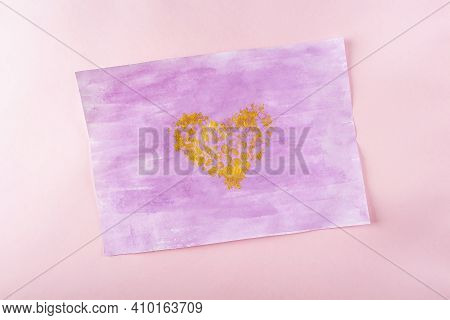 Diy And Kids Creativity Step By Step Instruction: Drawing Greeting Card Non-standard Method With Bub