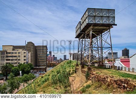 Water Tower In And Old Prison Fort. Constitutional Hill, Johannesburg, South Africa