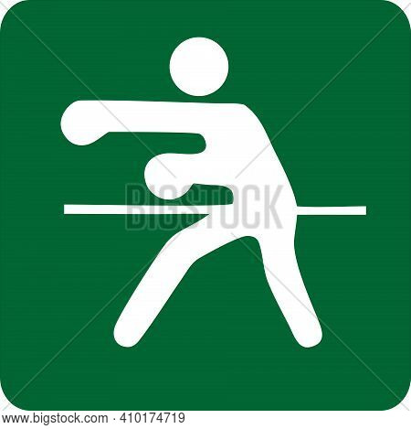 Sports Illustration Of Boxing. Image Of Sport Boxing. Icon Of Sport. Kinds Of Sports. Sportive Icons