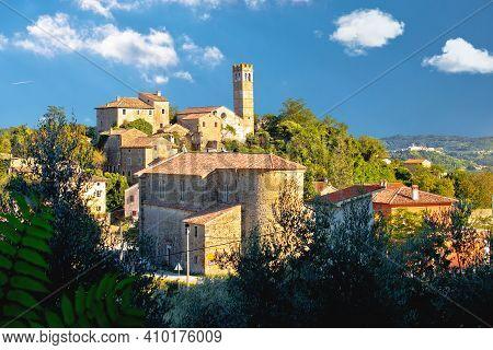 Village Of Zavrsje In Green Landscape View, Istria Region Of Croatia