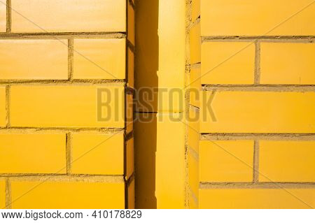 Yellow Brick Wall Background Spray, Style, Surface, Texture