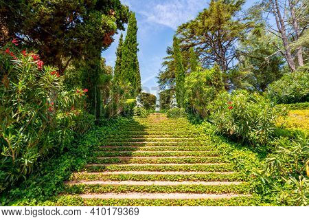 Saint Clotilde Gardens (jardines De Santa Clotilde) In Lloret Del Mar, Spain