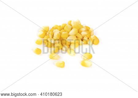 Canned Corn On A White Background Canned Corn