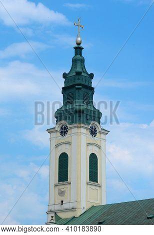 Oradea City The Church Of Saint Ladislaus Clock Tower Architecture