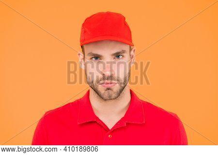 Cashier Occupation. Hiring Shop Worker. Handsome Guy Cashier Uniform. Restaurant Cafe Staff Wanted.