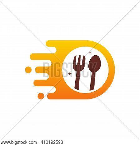 Fast Food Logo Designs Template, Food Delivery Logo Symbol
