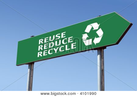 Recycling Roadsign