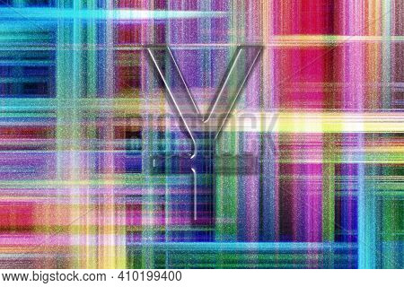 Japanese Yen, Jpy Yen Currency, Monetary Currency Symbol, Colorful Checkered Background