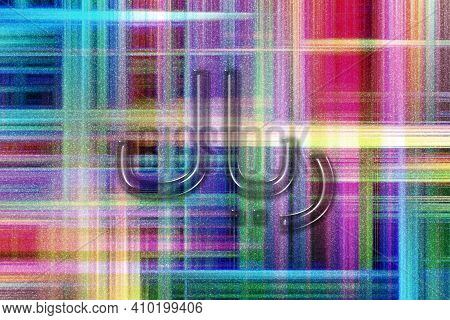 Iranian Rial, Irr Rial Currency, Monetary Currency Symbol, Colorful Checkered Background