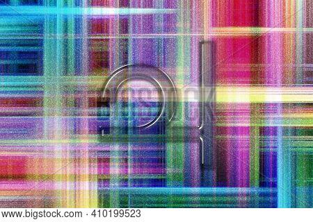Symbol Of Jupiter, Jupiter Sign, Astrology Jupiter Planet, Colorful Checkered Background
