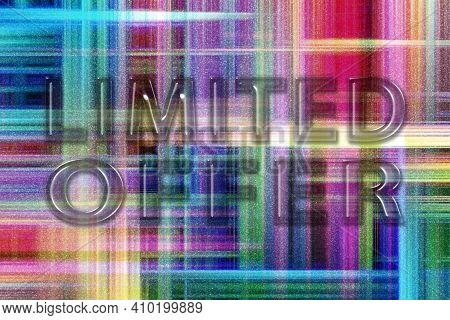Limited Offer, Modern Banner, Limited Offer Text, Colorful Checkered Background