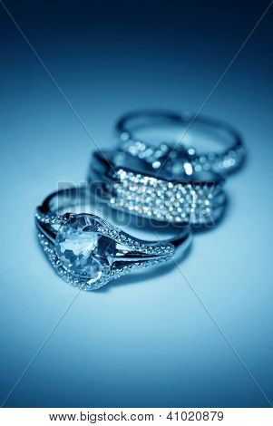 Jewelry Accessories  Rings In Blue Light