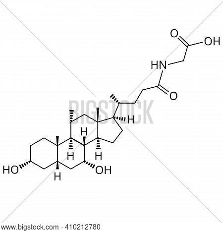Glycochenodeoxycholic Acid. Bile Acid. The Chemical Molecular Formula Is Glycochenodeoxycholic Acid.