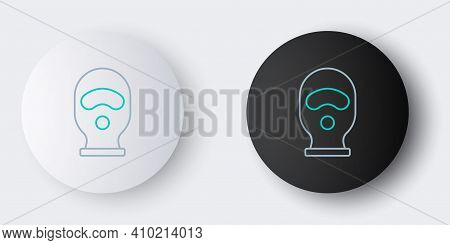 Line Balaclava Icon Isolated On Grey Background. A Piece Of Clothing For Winter Sports Or A Mask For