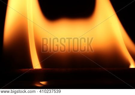 Danger Blazing Flame. Burning Flames Background. Blaze Fire Texture. Glowing Dangerous Burl Light Ba